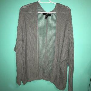 F21 Gray Knit Cardigan